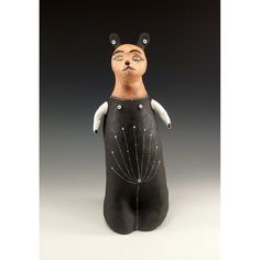Sculpted Ceramic Cat  Jenny Mendes Design by jennymendes on Etsy