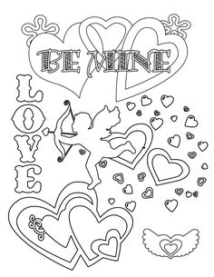 Valentine\'s Day Coloring Pages | Meredith corporation and Patterns