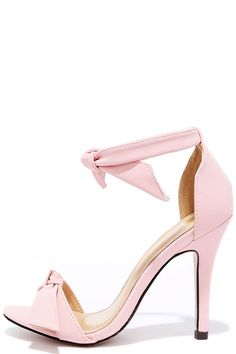 f8d58225668 Belle Epoque Light Pink Nubuck Ankle Strap Heels