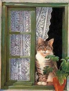 Window Kitty by Lesley Ann Ivory