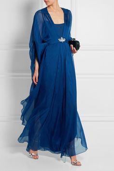 Temperley London Embellished silk-chiffon gown NET-A-PORTER.COM