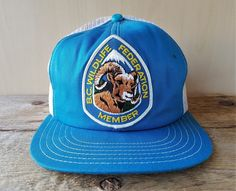 f572bbbe3e391e Vtg 80s BC WILDLIFE FEDERATION MEMBER Mesh Trucker Hat Canada Snapback Cap  Patch #PromoWearLtd #