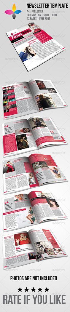 10 best indesign newsletter templates graphic design pinterest