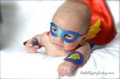 Deluxe NEWBORN SUPERHERO Halloween Costume  by littlehbigstyle, $60.00