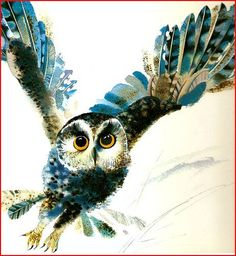 owl water color painting - could make an interesting tattoo