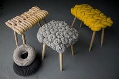 Stool with a coral feel