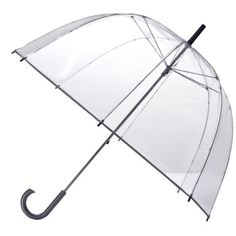 Totes Clear Bubble Umbrella - Silver Trim