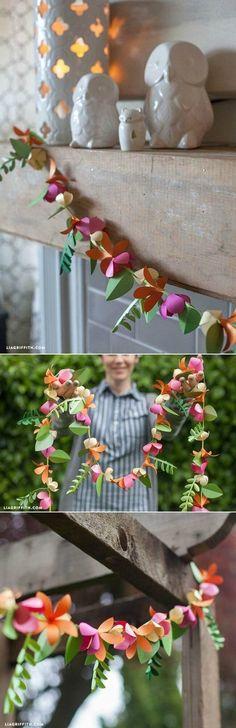 DIY Spring Paper Flower Garland