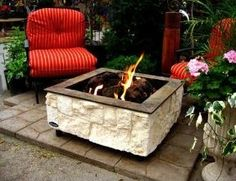 lime outdoor fireplace