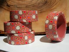 Set of 4 Retro Napkin Rings by ArzuMusa on Etsy, $28.00
