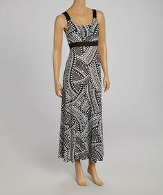 Loving this Black & White Tribal Maxi Dress on #zulily! #zulilyfinds