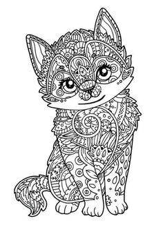 Gatos para colorear 14 Coloring Pictures Of Animals, Zoo Animal Coloring Pages, Dog Coloring Page, Cute Coloring Pages, Coloring Pages For Girls, Mandala Coloring Pages, Christmas Coloring Pages, Coloring Pages To Print, Coloring Books