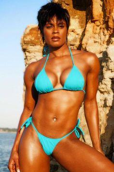 Ebenholz muskulöse Frauen