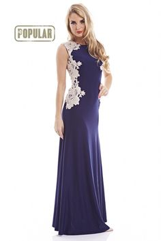 navy lace maxi dress http://shopmodmint.com/product/navy-lace-sides-maxi-dress-2/