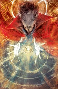 The original drawing of the exclusive Doctor Strange poster I did for The Comic Bug comic shop, to tie in with their screening of the film. Marvel Doctor Strange, Doc Strange, Strange Tales, Strange Art, Marvel Fanart, Marvel Comics Art, Marvel Heroes, Marvel Avengers, Arte Nerd