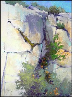 Shadowed Rock by Terri Ford · Pastel DrawingPastel ArtPastel . Pastel Landscape, Abstract Landscape, Pastel Drawing, Pastel Art, Seascape Paintings, Landscape Paintings, Artist Art, Painting Inspiration, Watercolor Paintings