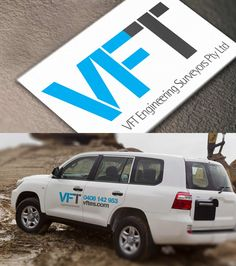 Develop and design a logo for VFT Engineering Surveyors. Develop and design a collection of vehicle signage.  #Design #Branding #Vehiclesignage #Vehicle #Marsdesign