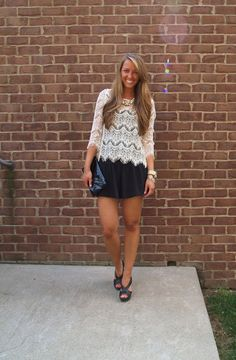 Fringe and Lace top with Express shorts #ninewest #lace #michaelkors #ilycouture