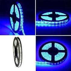 Waterproof 5M 5050 blue LED Strips Lighting Tape Lamp For Home Kitchen Room Garden Decor Auto Car Safety Light
