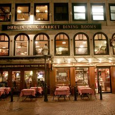 Durgin -Park restaurant Faneuil Hall Boston, ma Best Indian Pudding anywhere ever! Boston Strong, In Boston, A Lovely Journey, Quincy Market, Park Restaurant, Visit France, Boston Massachusetts, New England, Outdoor Structures