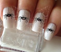 Halloween Nail Art Spider Nail Art Water Decals Wraps