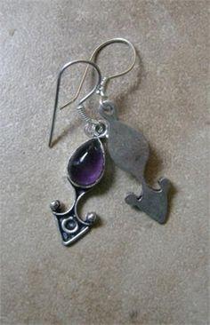 Sparkling Amethyst Dangle Earrings