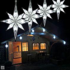 sternenlichterkette f r weihnachtsbaum lichterkette mit 9 sterne f r die baumbeleuchtung inne. Black Bedroom Furniture Sets. Home Design Ideas