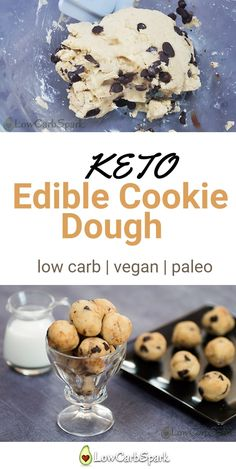 Keto Cookie Dough recipe is a super easy, no-bake low carb dessert that is easy to make. Enjoy a keto treat with only carbs. Keto Cookie Dough recipe is a super easy, no-bake low carb dessert that is easy to make. Enjoy a keto treat with only carbs. Keto Cookies, Keto Cookie Dough, Cookie Dough Recipes, Dessert Simple, Keto Dessert Easy, No Carbs Dessert, Dessert Pizza, Keto Vegan, Vegan Keto Recipes