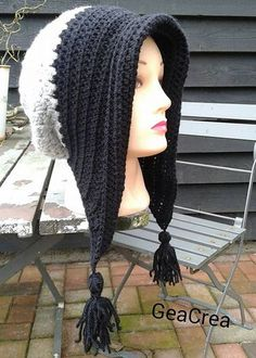 5354a647705 Winter Bonnet with Tassels - Free Pattern (Beautiful Skills - Crochet  Knitting Quilting)