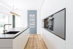 design overall concept FL Kitchen Island, Kitchen Cabinets, Küchen Design, Home Decor Kitchen, Bungalow, Interior, House, Gallery, Image