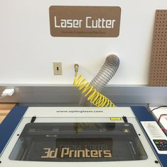 Laser cutter & 3d printer reservable beginning 2/1/16. The secret is out!  #jocomakes