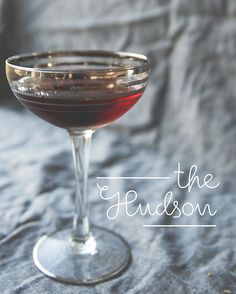 THE HUDSON // 2 1/2 ounces rye whiskey  1/2 ounces amaro averna  1/2 ounces benedictine  2 dashes angostura bitters