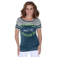 Seattle Seahawks Touch by Alyssa Milano Womens Morgan T-Shirt – College Navy