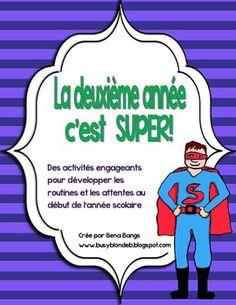 {La deuxième année c'est SUPER!} A Superhero-themed Character education unit