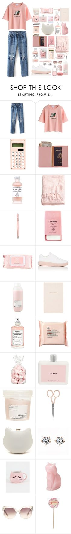 """""""PinkFoot"""" by kate-kat-kit ❤ liked on Polyvore featuring WithChic, Royce Leather, H&M, Anastasia, Pier 1 Imports, Mamonde, Prada Sport, Davines, Kate Spade and Maison Margiela"""
