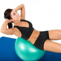 Get your abs summer ready with this amazing exercise ball routine!! #SkinnyMom