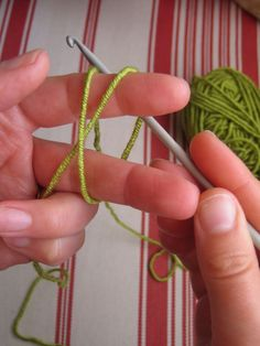 This shows step by step photos of how to crochet. I already know how, but this looks so handy to have in case I get out of practice or want to show someone else how to.