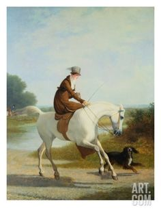 Miss Cazenove on a Gray Hunter Giclee Print by Jacques Laurent Agasse at Art.com