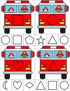 Firefighter Shape Clip Cards by Tactile Learning Police Activities, Fun Activities For Toddlers, Preschool Activities, Space Activities, Daycare Themes, People Who Help Us, Community Helpers Preschool, Community Workers, Toddler Themes