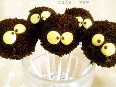 友チョコに☆まっくろくろすけケーキポップの画像