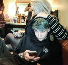 Blue hair . Bars and melody . Leondre Devries . Leo