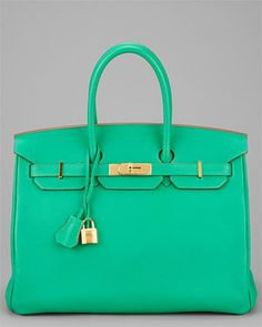Hermes Menthe Togo Leather Birkin 35cm GHW