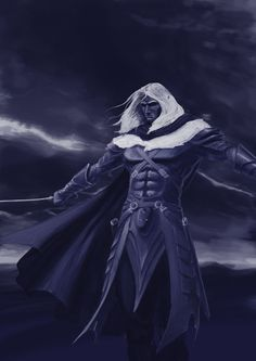 Drizzt Do'Urden by ~dicabrio on deviantART. I strongly suggest reading the books.