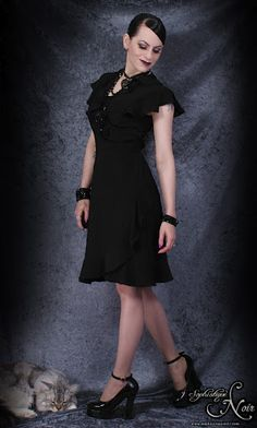 Corp Goth Dress - Sophistique Noir