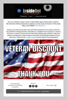 Are you a Veteran buying a home or Real Estate agent working with a veteran?   We have been offering discounts to veterans, but we never annouced it to the public.  CALL US TODAY 916-258-5407     Buying a two story home with a tile roof? Most inspectors do not walk on them for the potential to damage the tiles. We believe a complete home inspection is owed to the buyer, so we fly a drone over the roof while shooting high resolution video and photos, providing you a clear image of one of the…