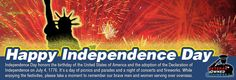 Happy Independence Day (2012) slide we created for Veteran Owned Business. Slide actually links to a section that shows various discounts, coupons, deals, etc. specifically for July 4th and beyond.