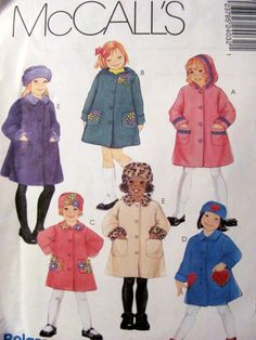 McCalls 2403, Girl's Polar Fleece Coats and Hat Pattern, Sizes 4, 5 and 6, Uncut by OnceUponAnHeirloom on Etsy