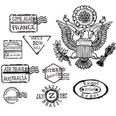 Custom listing for 27 passport stamps