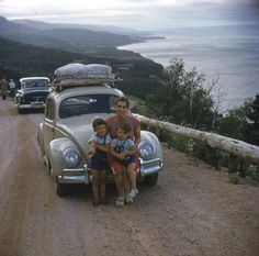 ~Pic 8~ On Holidays with Hubby Afred, and Sons. Place: Northern Ontario, Canada. Date: 1955 Her Age: 28