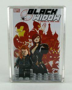 LEGO DC Marvel Superheroes Minifigure Display with figure - Black Widow - Avengers. $27.00, via Etsy.